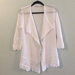 Eight Eight Eight 100% Cotton Open Knit Cardigan